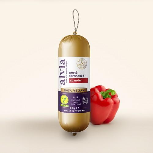 Un excelent si delicios inlocuitor vegan pentru pateu cu ardei. Produs 100% VEGAN.